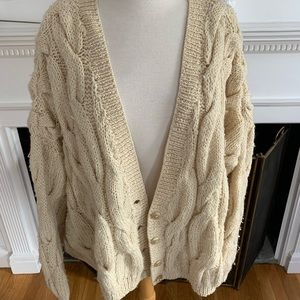 DKNY gorgeous oversized cabled vintage cardigan